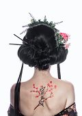 picture of japan girl  - Portrait of a young geisha girl - JPG