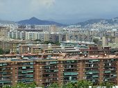 picture of suburban city  - Houses and apartments in Suburban sprawl of the City of coastal Barcelona - JPG