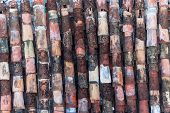 image of roof tile  - Abstract background of old clay tiles - JPG