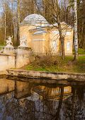 picture of centaur  - Detail of the bridge and the reflection of the Centaurs in Pavlovsk park in St - JPG