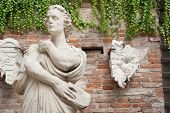 foto of vicenza  - White stone statues and sculptures in the external courtyard of the olimpic theater in Vicenza - JPG
