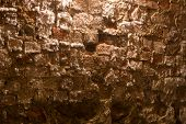 foto of basement  - Wall with salt crystals in a basement - JPG