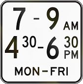 stock photo of traffic sign  - Australian traffic sign additional panel to specify the meaning of other signs - JPG