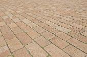 stock photo of weed  - Block paving pattern - JPG