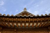 stock photo of korean  - Traditional Korean style architecture at Hanok Village South Korea - JPG