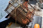 foto of crab  - Steel King Crab pots weighing 600 pounds and measuring 6 foot square - JPG