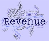stock photo of revenue  - Revenue Word Indicating Wages Revenues And Earnings - JPG