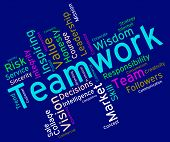 picture of combine  - Teamwork Words Representing Text Group And Combined - JPG