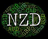 stock photo of nzd  - Nzd Currency Meaning New Zealand Dollars And New Zealand Dollar - JPG