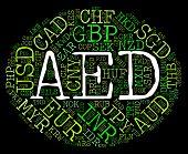 picture of dirham  - Aed Currency Meaning United Arab Emirates And Emirati Dirham - JPG