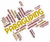 stock photo of glider  - Paragliding Word Representing Wordcloud Glider And Paraglider - JPG