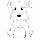 foto of schnauzer  - Hand painted Schnauzer for adv or others purpose use - JPG