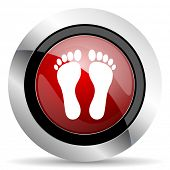 picture of webbed feet white  - foot red glossy web icon original modern design for web and mobile app on white background  - JPG