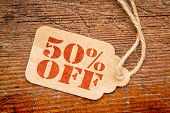 stock photo of fifties  - fifty percent off  - JPG