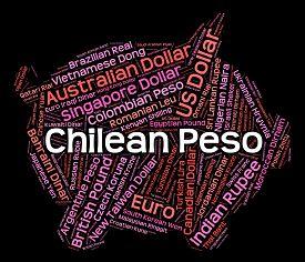 foto of pesos  - Chilean Peso Showing Worldwide Trading And Pesos - JPG