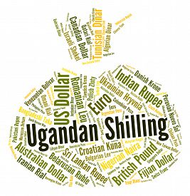 picture of shilling  - Ugandan Shilling Represents Foreign Currency And Coin - JPG