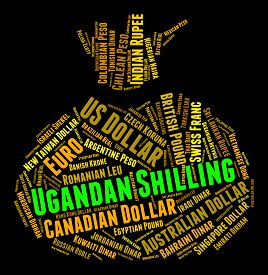 pic of shilling  - Ugandan Shilling Indicating Foreign Currency And Market - JPG