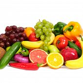 stock photo of fruits vegetables  - fresh fruits - JPG