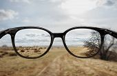 Clear Vision Through Glasses poster