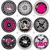 foto of emo  - Vector Emo drink coasters. . To see similar, please VISIT MY GALLERY.   - JPG