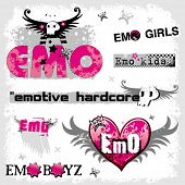 stock photo of emo-boy  - Emo logos 1 - JPG