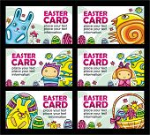 stock photo of happy easter  - Easter cards vector set - JPG