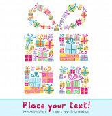 Постер, плакат: Декоративные Подарочная коробка формируется несколько крошечных подарочные коробки