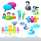 picture of people icon  - A collection of people icons and elements - JPG
