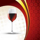 vector wine glass on background