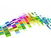 image of color geometric shape  - vector colorful mosaic pattern design - JPG