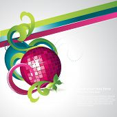 abstract discoball party vector poster