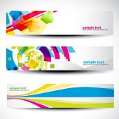 abstract header vector set 4