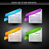 web banner style for your display text
