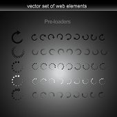 vector five preloader set element