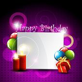 pic of happy birthday card  - stylish happy birthday design art - JPG