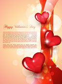 image of valentines day  - stylish beautiful valentine day heart background - JPG