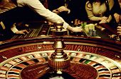 image of roulette table  - This photograph represent gold image of roulette - JPG