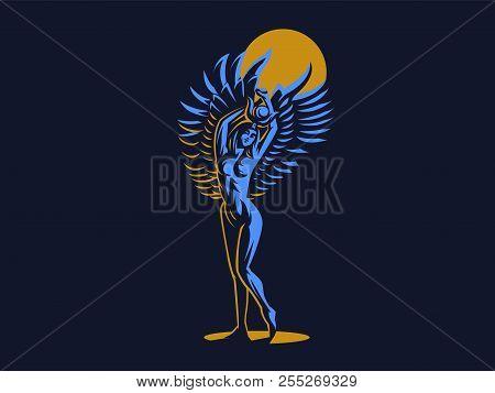 The Egyptian Goddess Isis Logo