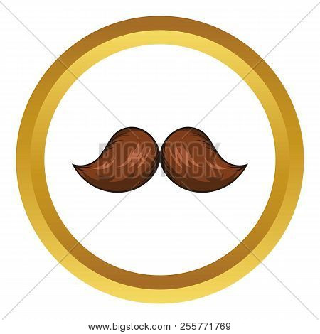 Retro Hipster Mustache Icon In