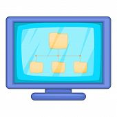 Desktop Folders Icon. Cartoon Illustration Of Desktop Folders Icon For Web Design poster