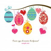 picture of honeysuckle  - Hanging easter eggs and hearts - JPG