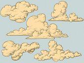 Постер, плакат: Винтажные облака