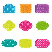 Vector set of colorful polka dot  frames