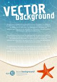 stock photo of summer beach  - Background for design on sea subjects with a beach - JPG