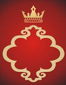 foto of queen crown  - abstract gold crown on red background  - JPG