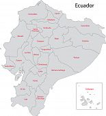 stock photo of guayaquil  - Administrative divisions of Ecuador - JPG