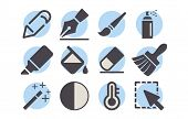 Shutterstock - Photo Editor Icon Pack 03.eps poster