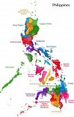 stock photo of luzon  - Map of Republic of the Philippines with eighty provinces - JPG