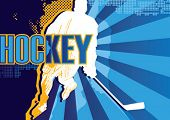 image of ice hockey goal  - Hockey abstract poster - JPG