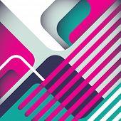 Постер, плакат: Стилизованные современные абстракция в цвете Векторные иллюстрации